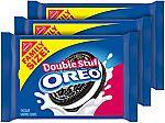 3-Pk Family Size Oreo Double Stuf Chocolate Cookies $8