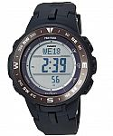 Casio Men's Solar Powered Triple Sensor Black Pro Trek Watch $80