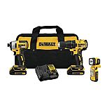 DEWALT 3-Tool 20-Volt Max Brushless Power Tool Combo Kit with Soft Case $159
