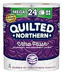 24-Ct Quilted Northern Ultra Plush Toilet Paper Mega Rolls $16.50 + Free Shipping