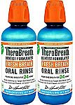2-count TheraBreath Fresh Breath Oral Rinse, Icy Mint, 16 Ounce Bottle $10.83