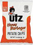 60-Count Utz Potato Chips Honey BBQ or Salt and Vinegar $12.81