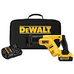 DEWALT 20-Volt Max Variable Speed Cordless Reciprocating Saw + 5AH Battery and Charger $149
