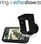 Ring Spotlight Cam (Wired or Battery) with Echo Show 5 $159