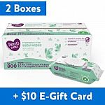 1600-Ct Parent's Choice Fragrance Free Baby Wipes + $10 Walmart Gift Card $26