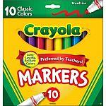 Crayola Marker Set, 10-Colors $0.97