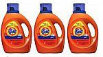 Tide Laundry Detergent Liquid, Original Scent, HE Turbo Clean, 100 Fl Oz (3 for $25.91)