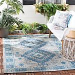 5' x 8' Safavieh Courtyard Light Gray/Blue Coastal Area Rug $49 (45% Off) + Free Shipping
