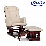 Graco Sterling Semi-Upholstered Glider and Nursing Ottoman $135
