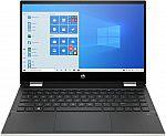 "HP Pavilion x360 HD 14"" Touch Laptop (i3-1005G1 8GB 128GB SSD) $430"