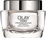 1.7oz Olay Overnight Gel Mask (Firming, Brightening or Hydrating) $10