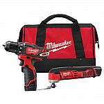 Milwaukee M12 12V Li-Ion Cordless Drill Driver/Multi-Tool Combo Kit with (2) 1.5 Ah Battery and Tool Bag $119 and more