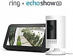 Ring Stick Up Cam (Wired or Battery) with Echo Show 5 $105