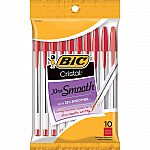 10-Count BIC Cristal Xtra Smooth Medium Ballpoint Pen $0.97