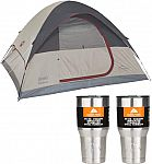 Coleman Highline 4-Person Dome Tent + 2-Ct 30oz Ozark Trail Tumblers $43.50