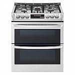 LG 6.9 cu. ft. Smart Double Oven Slide In Gas Range with ProBake Convection and Wi-Fi $1615