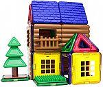 48-Piece Magformers Log Cabin Magnet Building Blocks $30