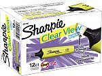 Sharpie Clear View Highlighter, Chisel Tip, 12-Pack $6.29