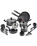 """T-Fal 18-Pc. Nonstick Cookware Set $50, T-Fal Nonstick 8"""" Fry Pan $9.74 & More + Free Shipping"""