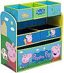 6-Bin Peppa Pig Toy Organizer by Delta Children $22.50