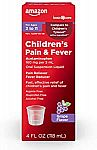 4-oz Amazon Basic Care Children's Pain & Fever Acetaminophen (Grape Flavor) $2.88