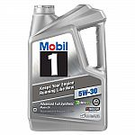 Mobil1 Full Synthetic Oil 5 Qt $12.38 After Rebate
