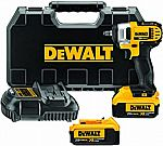 DEWALT 20V MAX Cordless Impact Wrench Kit with Hog Ring, 3/8-Inch (DCF883M2) + Two 4.0 AH Battery $150