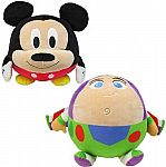 Disney 10-Inch Cuddle Pal Plush Toy: Buzz Lightyear, Mickey & More $5 Each