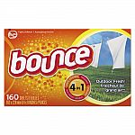 6-Pack 160-Ct Bounce Fabric Softener Sheets $7.50