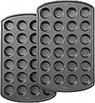 Wilton Perfect Results Premium Non-Stick 24-Cup Mini Muffin and Cupcake Pan, Set of 2 $9
