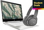 "HP 2-in-1 14"" Touch Chromebook (i3-10110U 8GB 64GB) + Sony WH-CH700N wireless headphones $399"