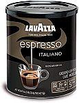 4-Pack 8oz Lavazza Caffe Espresso Ground Coffee Blend (Medium Roast) $18, 4-Pk Premium House Blend $18.50