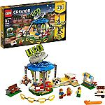 LEGO Creator Fairground Carousel 31095 Space-Themed Building Kit (595 Pieces) $40