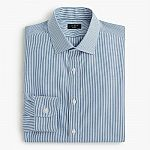 J.Crew Men's Ludlow Stretch Easy-Care Poplin Dress Shirt (Microstripe) $8