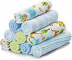 Spasilk 10 Pack Soft Terry Bath Washcloths $4