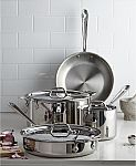 All-Clad Stainless Steel 7-Pc. Cookware Set $299.99 (Org $840)