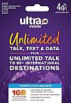 Ultra Mobile $19 Prepaid SIM Card $10