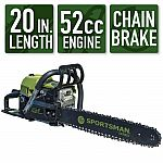 "Sportsman 20"" 52cc 2-Stroke Gas Chainsaw $109 (orig. $219)"