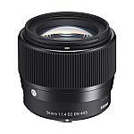 Sigma 56mm f/1.4 DC DN Contemporary Lens for Sony E-mount Cameras $339