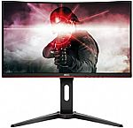 "AOC C24G1 24"" Curved Frameless Gaming Monitor $144.99"
