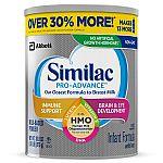 4-Count Similac Pro-Advance Baby Formula 1.93-lb (30.88oz) Tub $132.48 + $25 Walmart GC