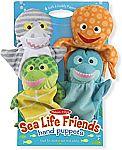 Melissa & Doug Sea Life Friends Hand Puppets Set $11.60