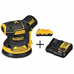 DEWALT 20-Volt MAX Lithium-Ion Cordless Brushless 5 in. Random Orbital Sander with Battery $129