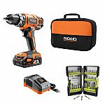 4-Pack RIDGID 18-Volt 1.5 Ah Compact Lithium-Ion Battery $99 and more