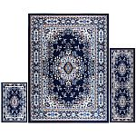 3-Pc Home Dynamix Ariana Ksara Area Rug Set (Navy Blue/Brown/Ivory) $38 + Free Shipping