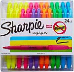 24-Pack Sharpie Accent Pocket Chisel Tip Highlighters (Assorted Colors) $7.50