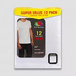 12pk Fruit of the Loom Men's T-Shirt Undershirt $15 + Get $5 Gift Card on $25+