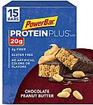 15-Count PowerBar Protein Plus Bar (Chocolate Peanut Butter) $8.30