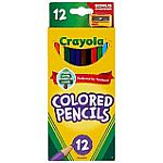 Crayola Colored Pencils, Assorted Colors, 12/Box $0.97