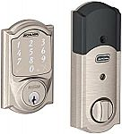 Schlage Sense Smart Deadbolt with Camelot Trim in Satin Nickel $137 (orig. $229)